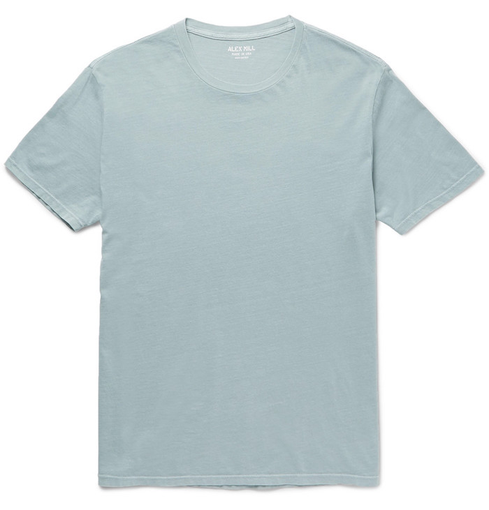 vetements homme basiques tee shirt simple alex mill coupe slim