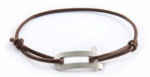 bracelet cuir homme fin marron pour homme