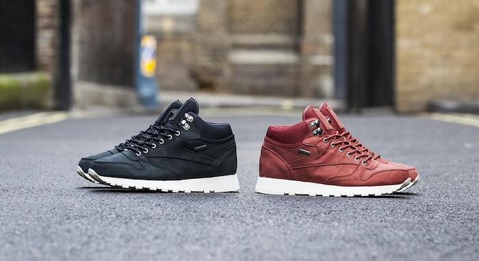 sneakers montantes reebok classic leather mid goretex