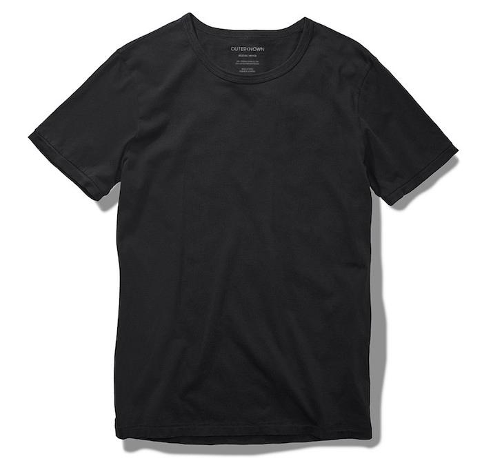 tee shirt simple noir qualité marque de vetement Sojourn Outerknown