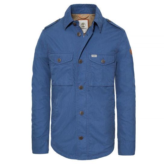 surchemise homme Stonybrook Timberland bleue pour hommes cintrée