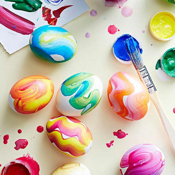 Origine oeufs de paques magnifique décoration aquarel