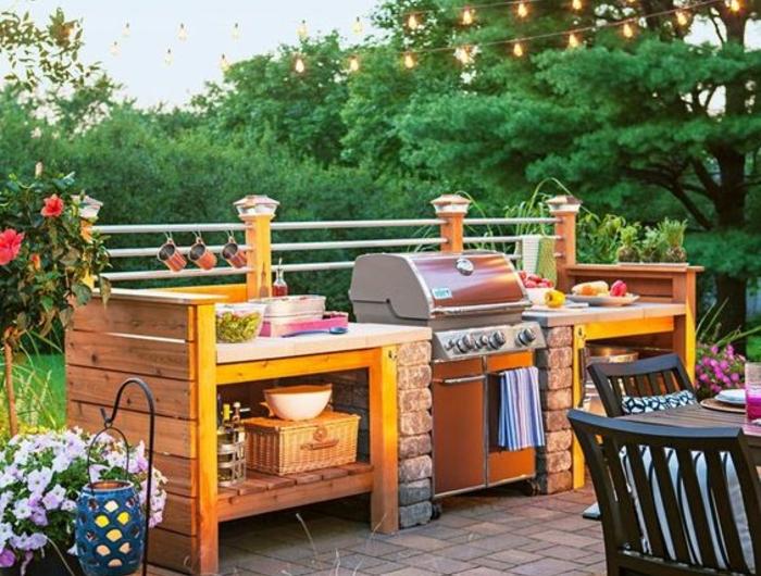 ▷ 1001+idées d\'aménagement d\'une cuisine d\'été extérieure