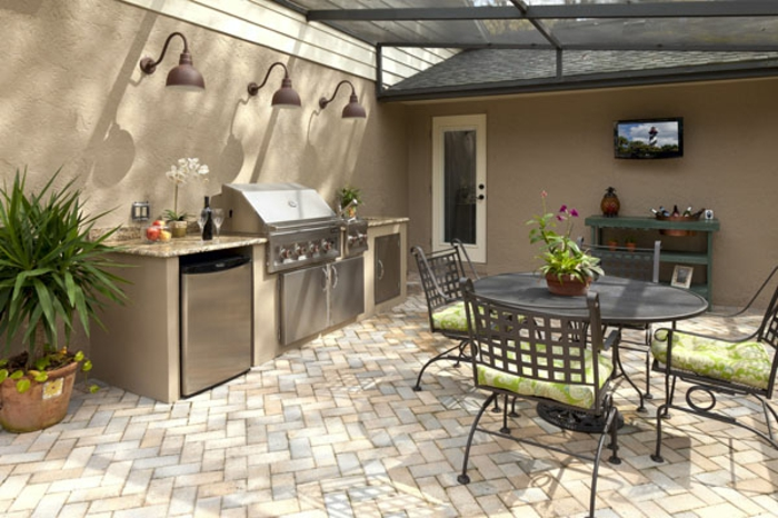 espace barbecue et cuisine d'extérieur pour un confort maximal