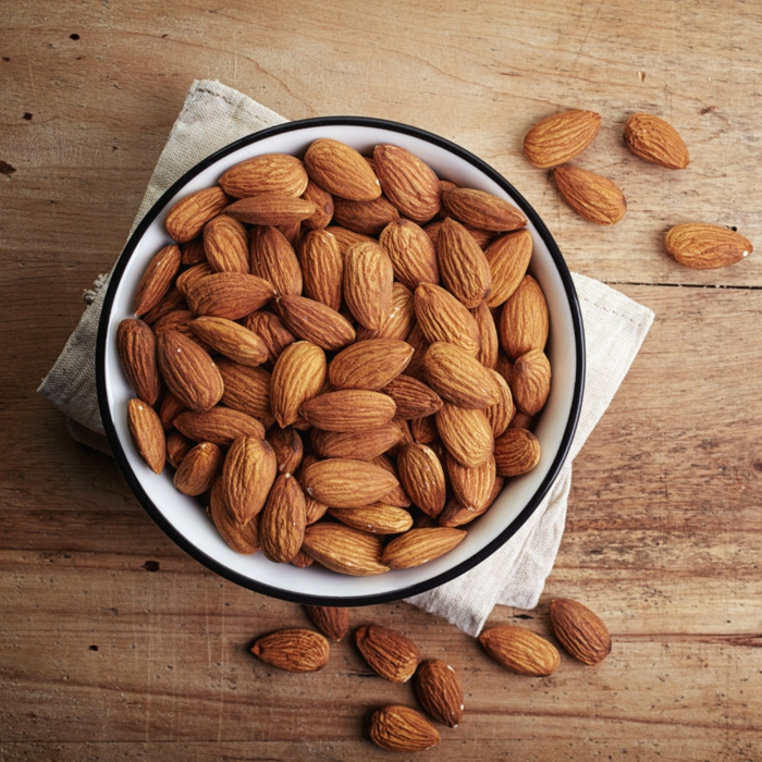 coupe faim naturel, amandes crus, quoi manger pour maigrir, comment predre du poids, sentiment de satiété