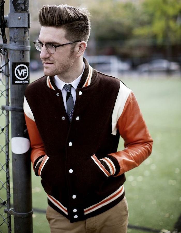 blouson teddy homme vintage les vestes la mode sont populaires partout dans le monde. Black Bedroom Furniture Sets. Home Design Ideas