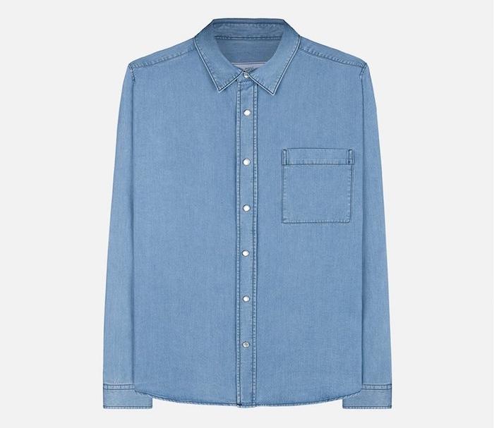 chemise en jean homme ami paris style chemises hommes denim