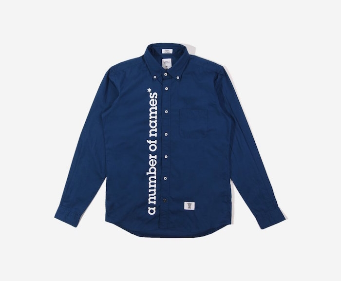 marques anglaises comme a number of names chemise bleue