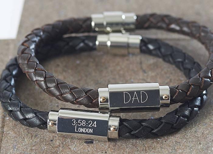 bracelet homme personnalisé en cuir gracé