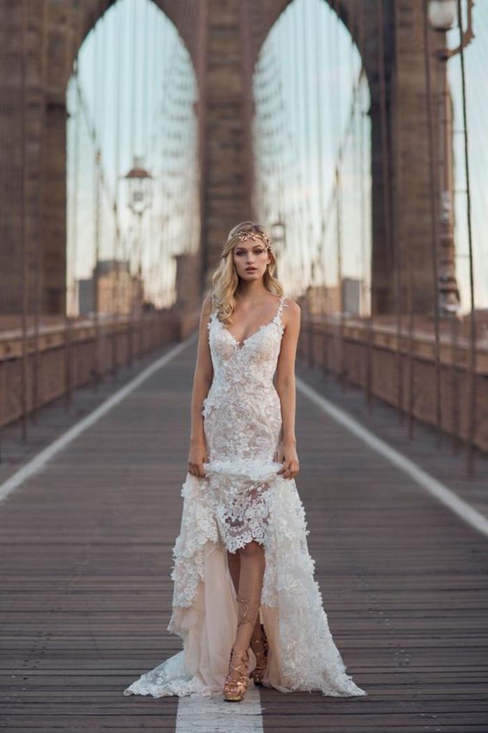 robe de mariée longuen de