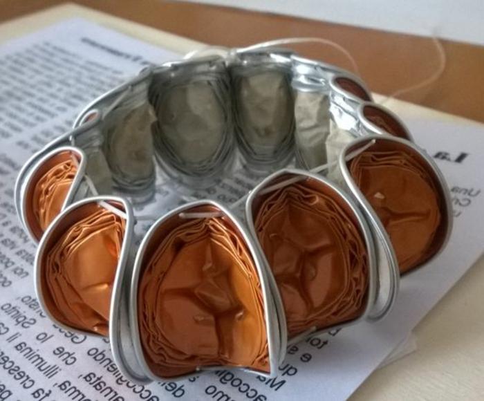 braacelet capsules pliées