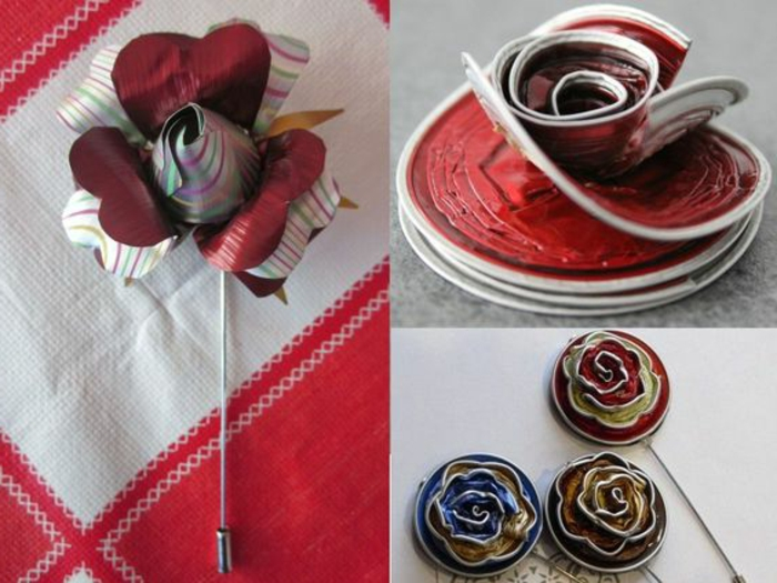 bijoux capsule nespresso, barrettes pour cheveux en capsules nespresso