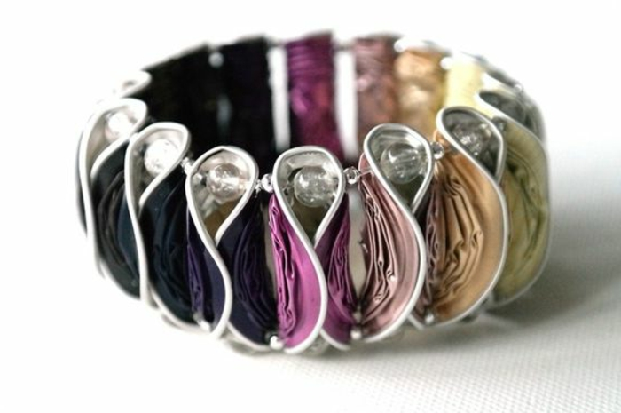 bijoux en capsules nespresso, bracelet diy avec capsules nespresso
