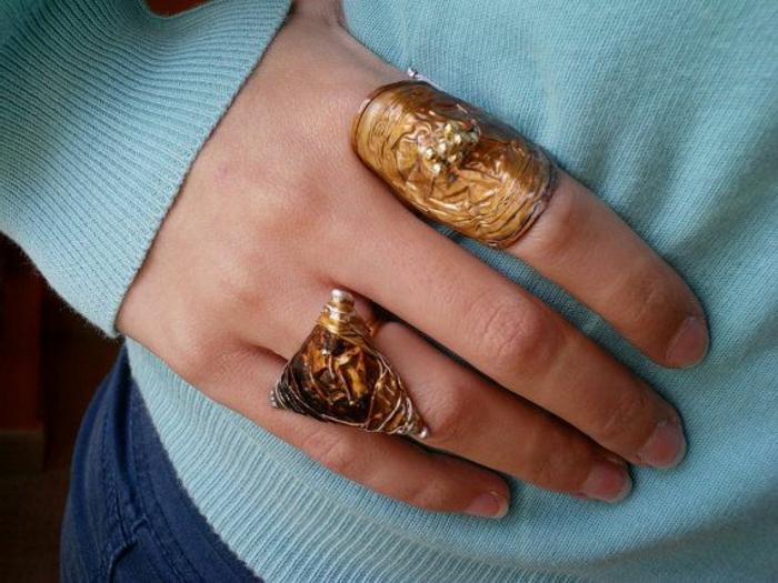 bijoux en capsules nespresso, fabriquer des bijoux à partir de matériaux recyclés
