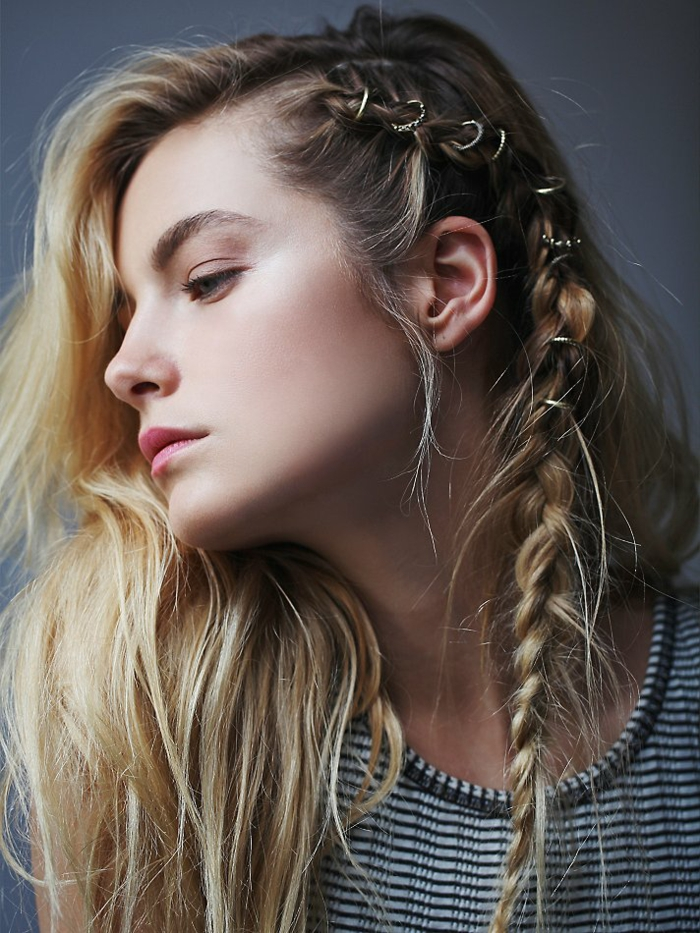 Idée coiffure de mariee boheme coiffure boheme cheveux courts