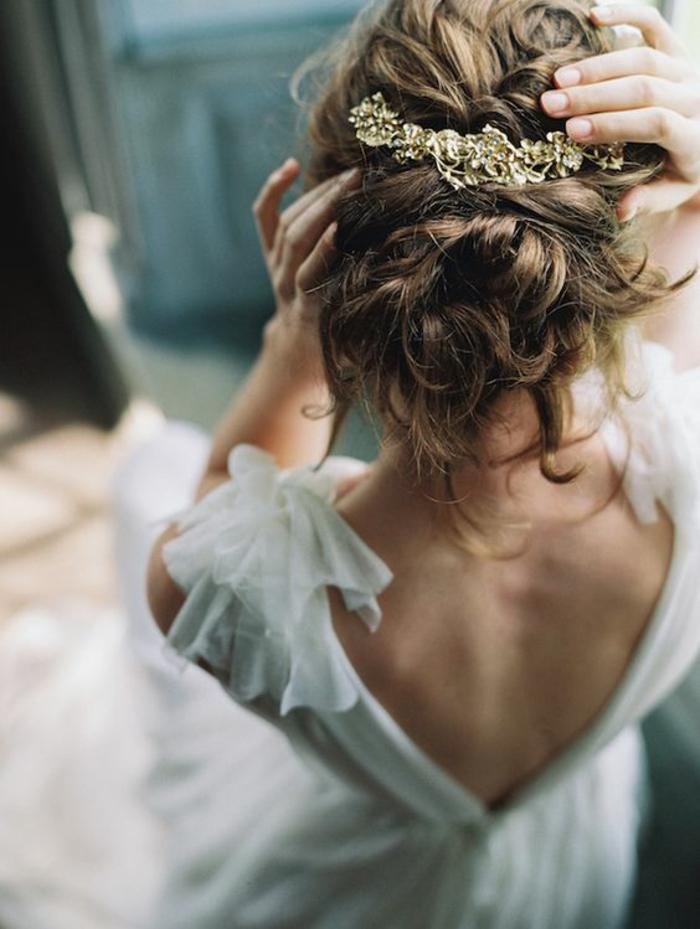 Idée coiffure cheveux long coiffure bohème chic mariage idée
