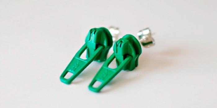 boucle d'oreillle diy originale, faire des boucles en recyclant les fermetures d'éclair