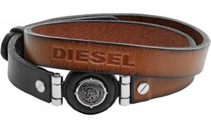 bracelet cuir homme diesel marron style