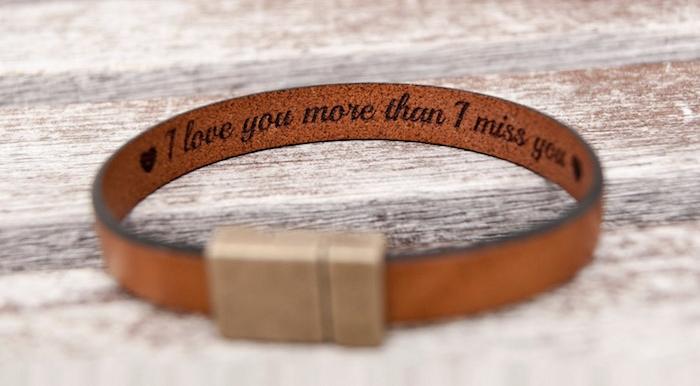 bracelet cuir homme personnalisé marron