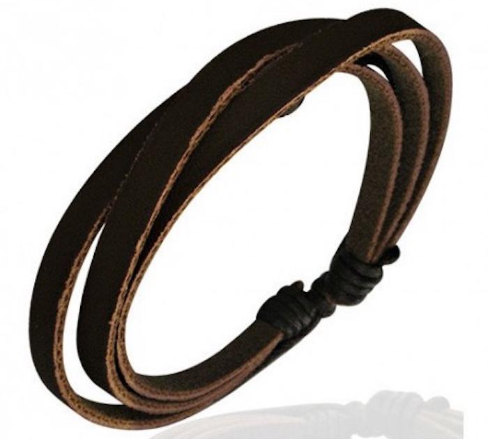 bracelet homme pas cher en cuir noir