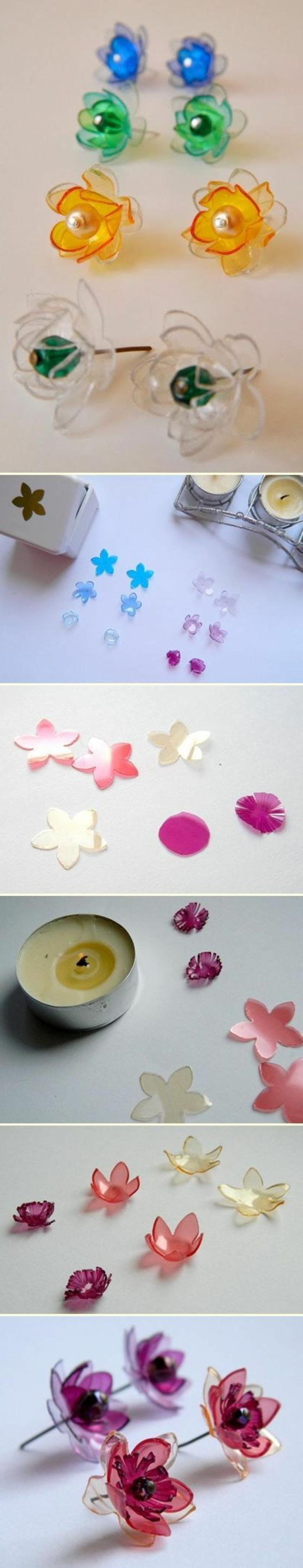 bricolage avec des bouteilles en plastique, fabriquer des bijoux à partir de bouteilles