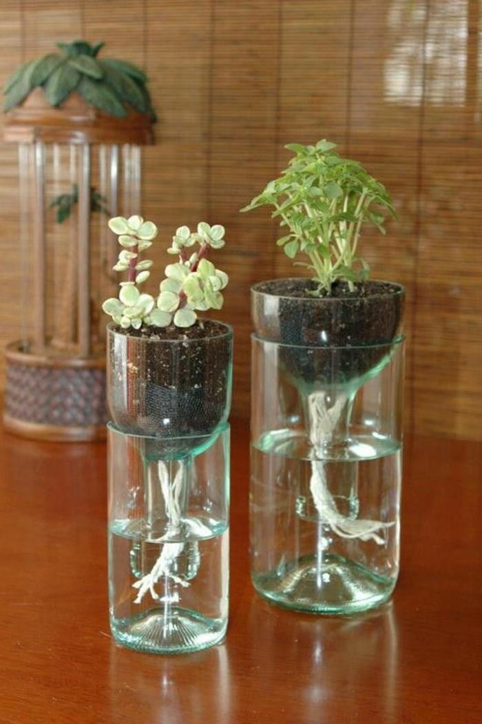 bricolage avec des bouteilles en plastique, îles flottantes dans les tasses