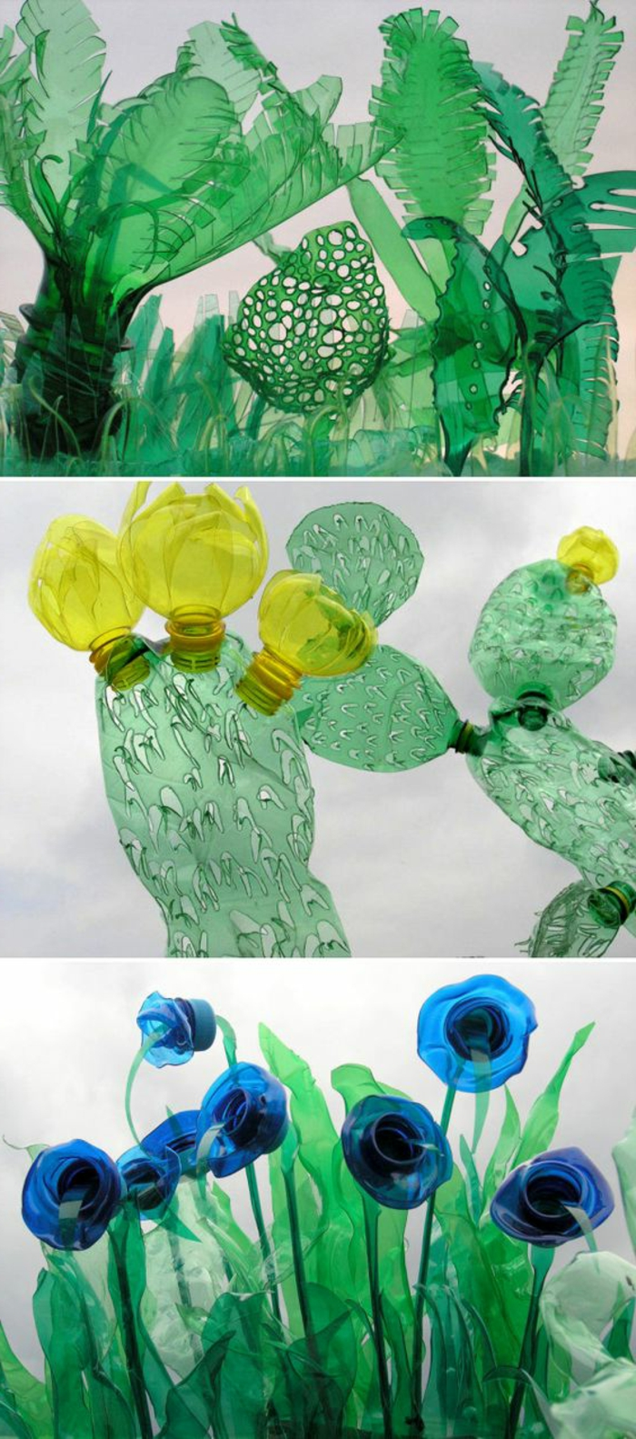 bricolage avec des bouteilles en plastique, créations originales de déchets recyclables