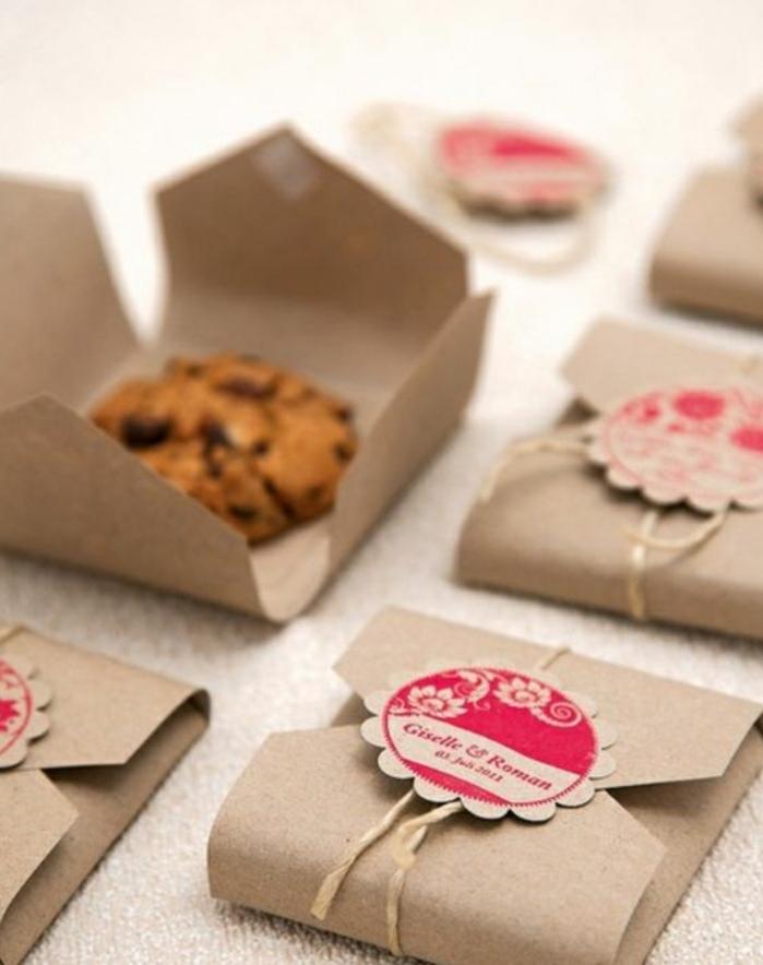 Boite a dragée original diy petit cadeau pas cher cookie