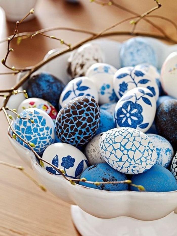 Cool oeufs de pâques idée colorer oeufs Pâques bleus