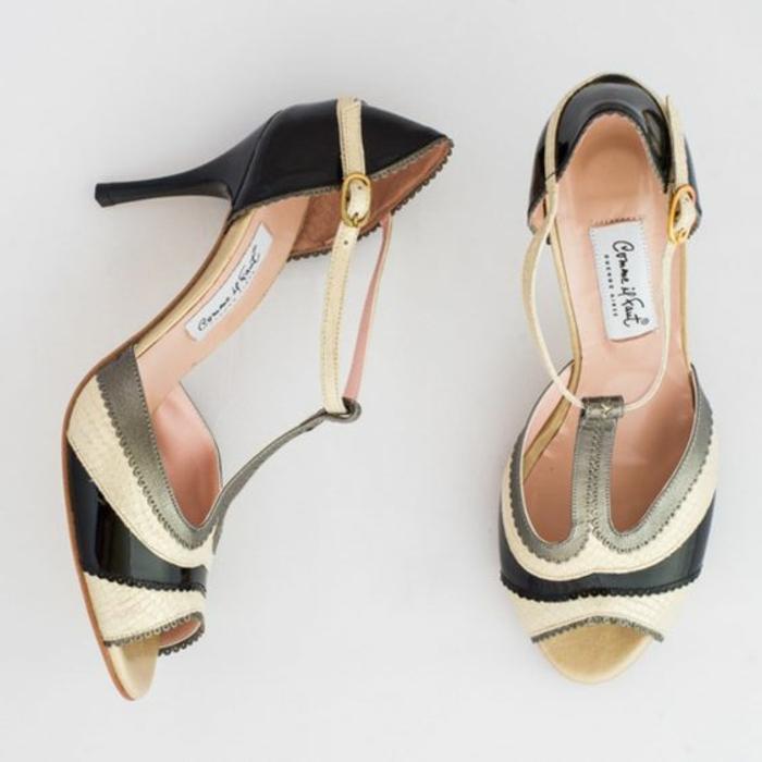 chaussures de danse tricolores tango pour les classes plus avancées et danseuses qui balancent bien