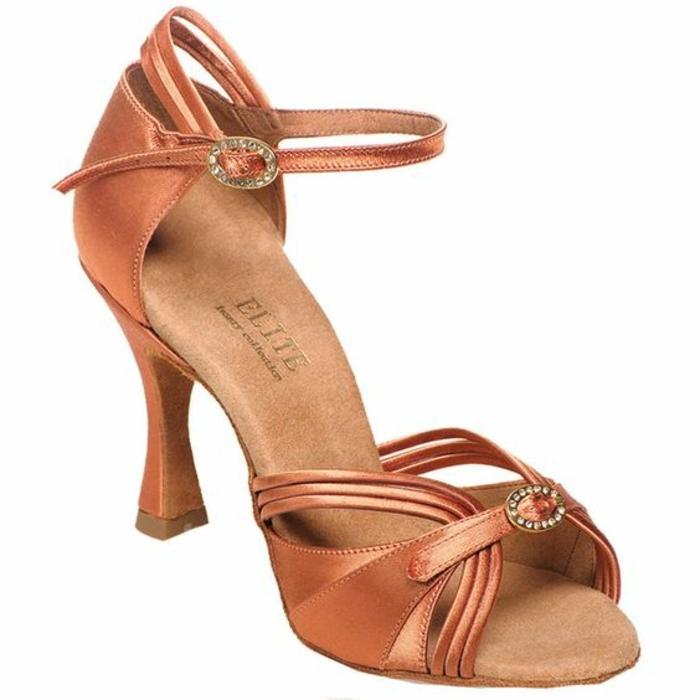 chaussures danse latina compétition Elite finition satinée