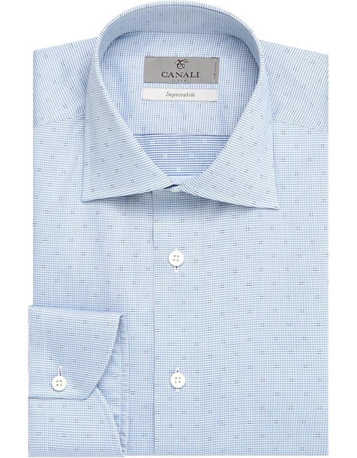 chemises hommes canali impeccabile bleue habillée chemise homme luxe