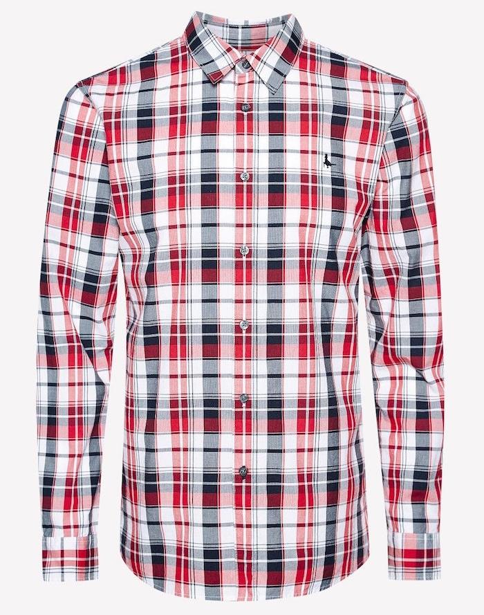 chemise a carreaux rouge et noir homme salcombe madras jack wills