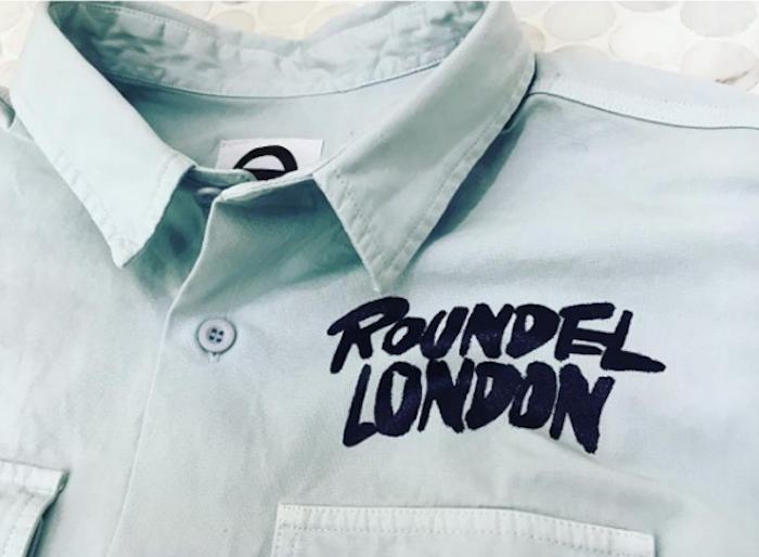 chemise Roundel London grise workwear sur site vetement anglais