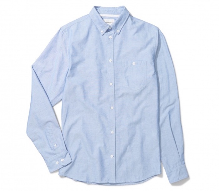norse projects chemise oxford homme anton bleu clair