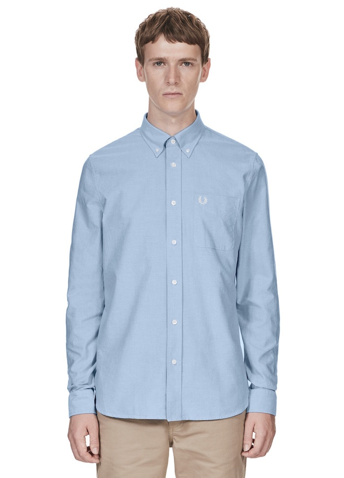 chemise fred freddy oxford classic bleu clair chemises hommes