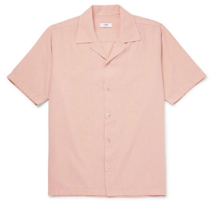 chemisette hommes saumon cmmn swdn été manches courtes chemise manche courte homme luxe