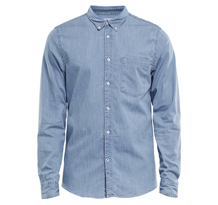 chemises hommes chemise jean homme jean oxford Falk 5705 marque NN07
