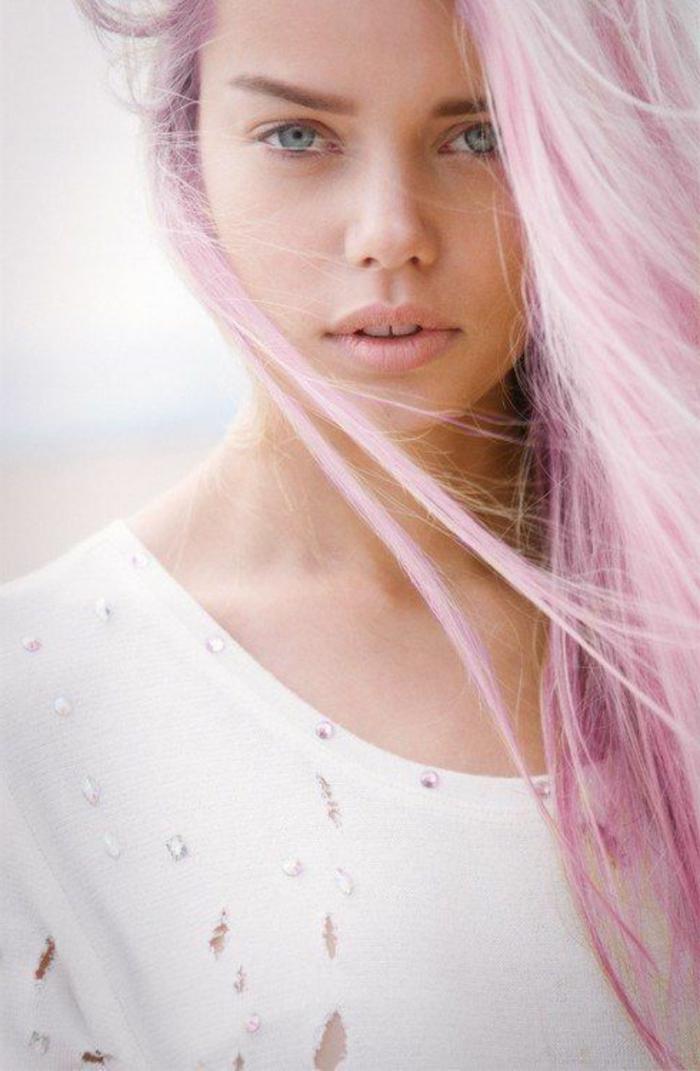 1001+ photos impressionnantes de cheveux rose foncu00e9 ou pastel