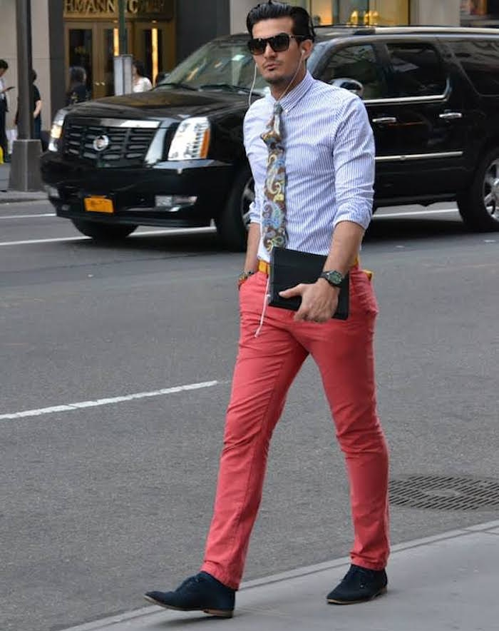 pantalon rouge homme clair coupe chino