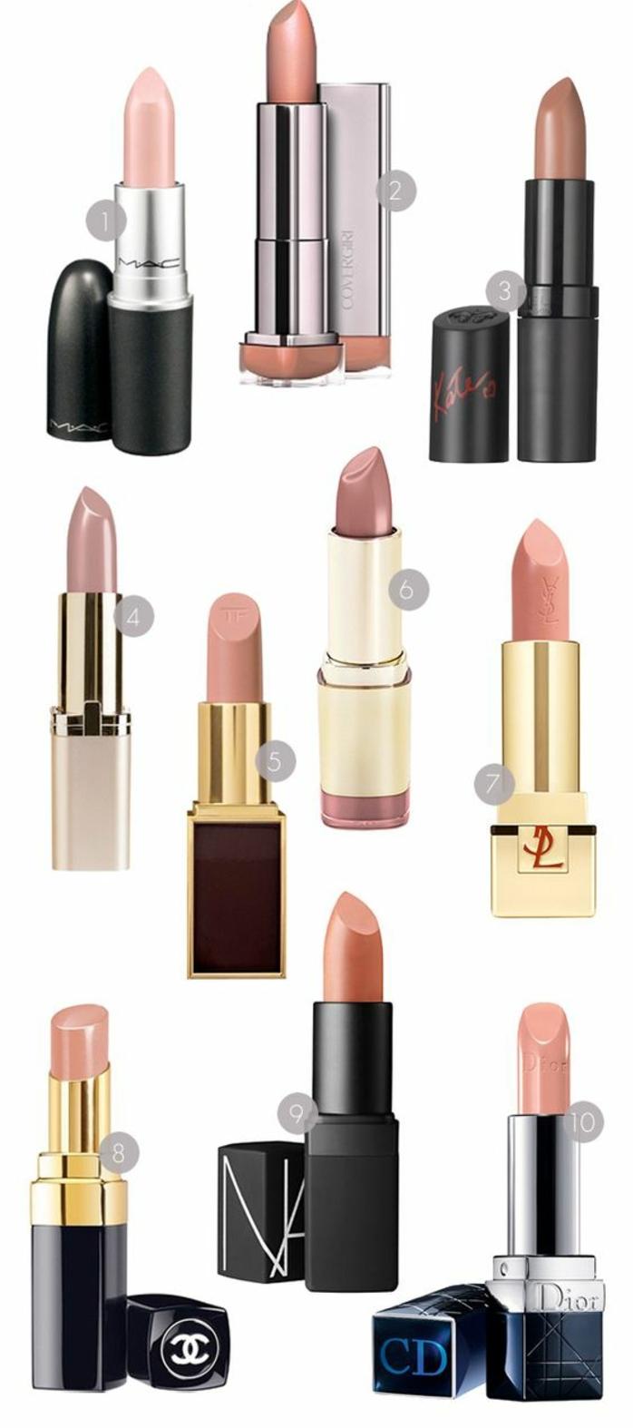 des lèvres nude et mates pour un maquillage discret et naturel, les meilleurs rouges à lèvres neutres