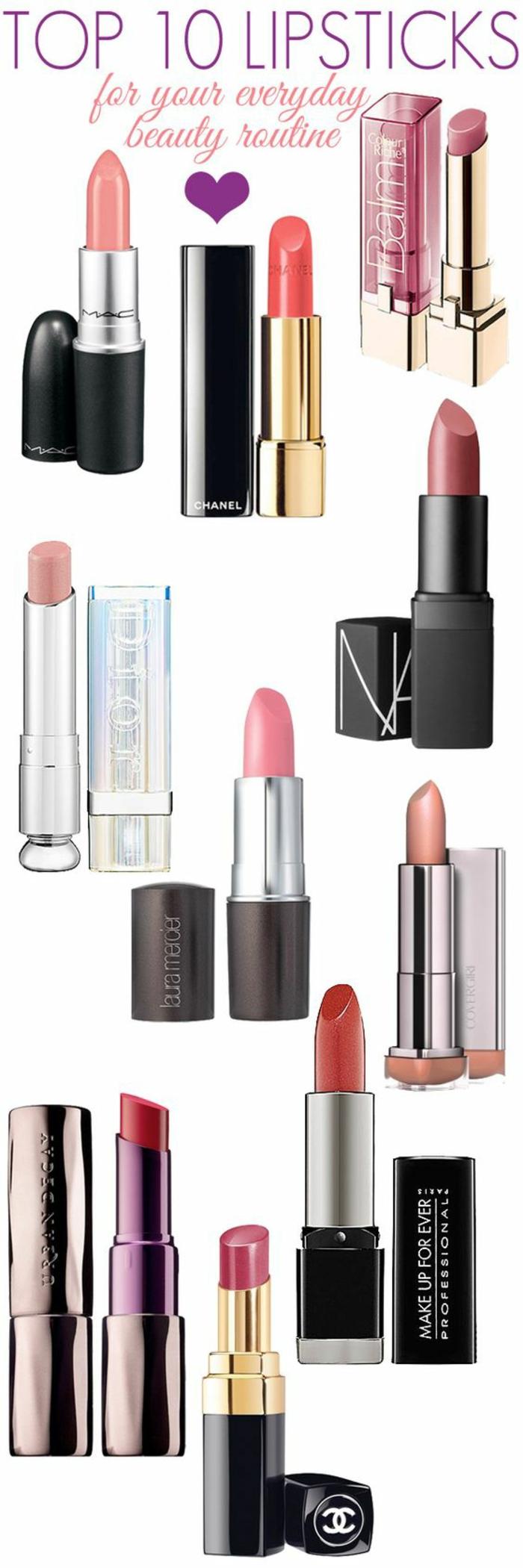 une sélection des meilleurs rouges à lèvre pour un maquillage léger de tous les jours