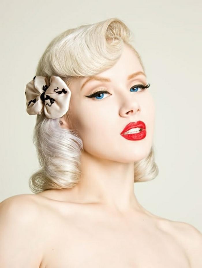La coiffure vintage \u2013 photos et tutos inspirants pour adopter le style rétro  chic