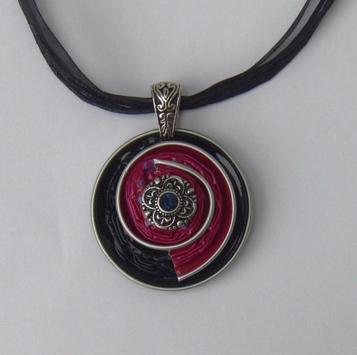 collier capsule, fabrication de bijoux faits main
