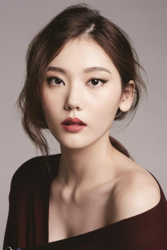 Maquillage de beauté asiatique