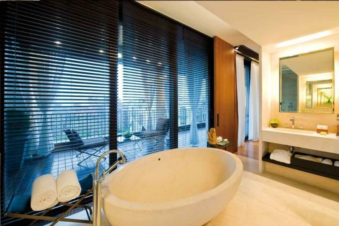 Comment agencer une salle de bain géant marbre