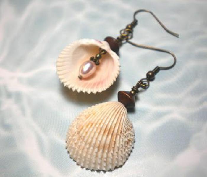 comment faire des boucles d'oreilles avec des perles et des coquilles
