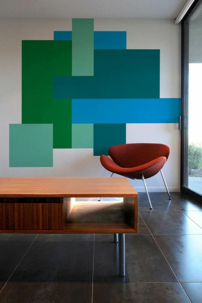 comment peindre un mur avec blocage de couleurs, office de travail
