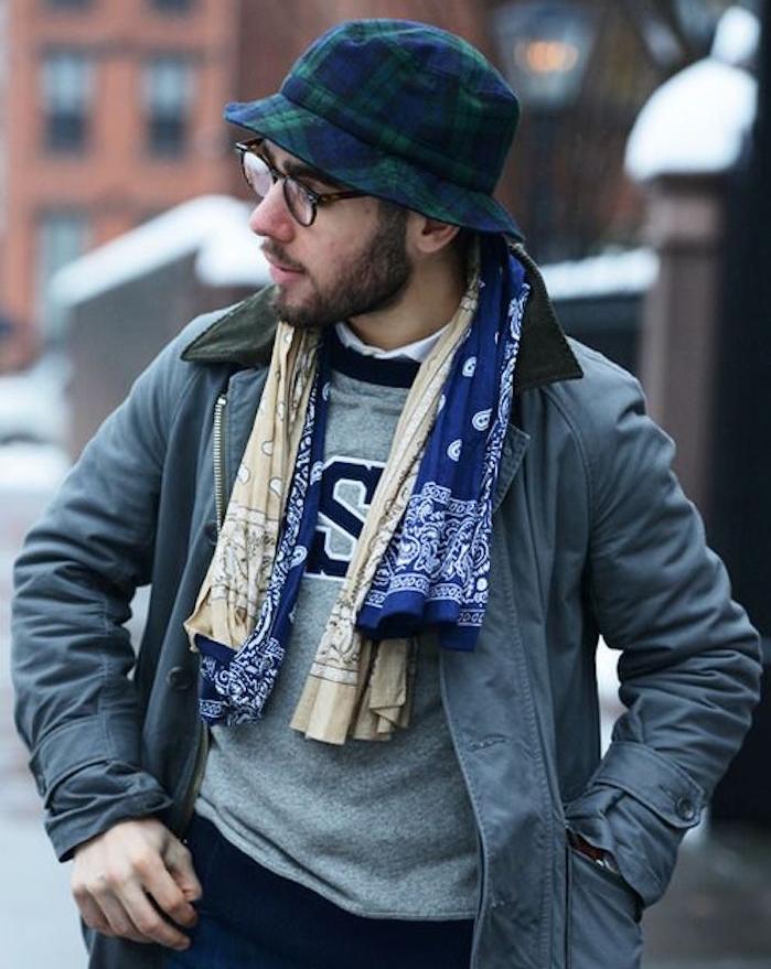bandanas rouge bandana bleu beige homme style écharpe