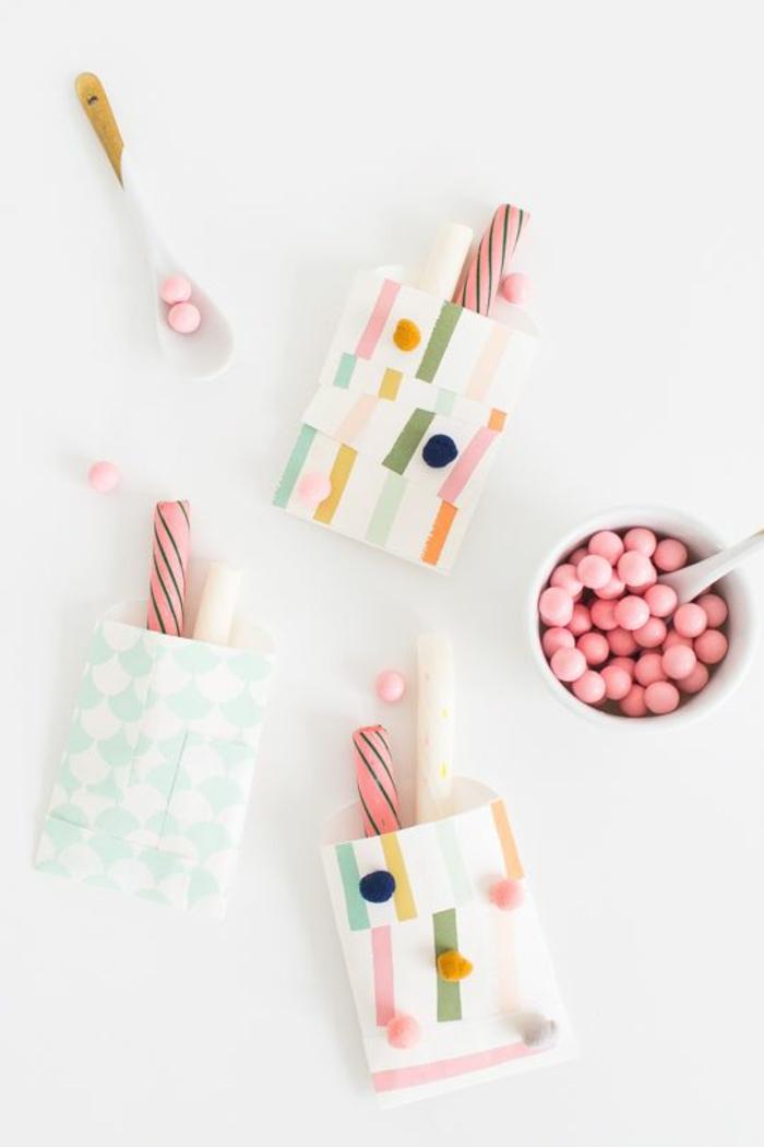 Petit cadeau invité anniversaire soirée avec amis idée bonbon